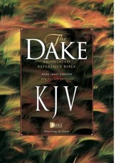 KJV Dake Annotated Reference Bible--soft leather-look, burgundy