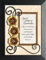 Special Mother and Grandmother Framed Tabletop Art