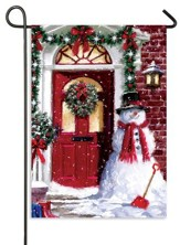 Christmas Door, Small Flag