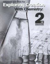 Exploring Creation with Chemistry (2nd Edition), Solutions & Test Book
