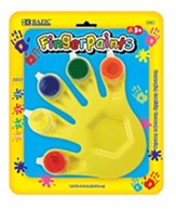 5 Colors 5 ml. Finger Paint with Hand Shaped Mixing Tray