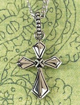 Flare Cross Necklace, with Center Cross