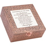 Copper Music Box, Footprints In The Sand, Large