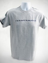 I Am the Wretch T-Shirt, Gray, Large (42-44)