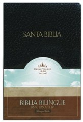 Biblia Bilingue RVR 1960-KJV, Piel Imit. Negro  (RVR 1960-KJV Bilingual Bible, Imit. Leather Black) - Imperfectly Imprinted Bibles