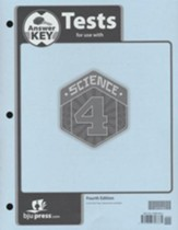 Science 4 Tests Answer Key (4th Edition)