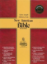 NAB St. Joseph Deluxe Gift Edition, Bonded leather, black--full size  - Imperfectly Imprinted Bibles