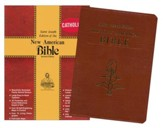 NAB St. Joseph Deluxe Gift Edition, Bonded leather, Brown -large print