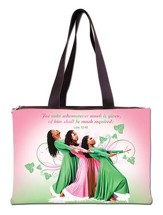 Three Ladies Handbag, Pink and Green