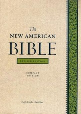 The New American Bible, Compact, Bonded Leather,     Black/Blue Pacific, Revised Edition - Imperfectly Imprinted Bibles