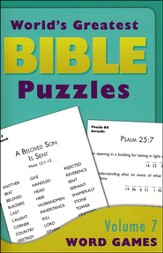 World's Greatest Bible Puzzles-Volume 7 (Word Games):