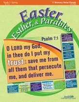 Easter, Esther, & Parables Youth 1 (Grades 7-9) Memory Verse Visuals