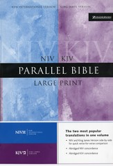 KJV & NIV Parallel Bible Hardcover, Large Print