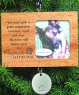 Pawprints Wood Photo Ornament