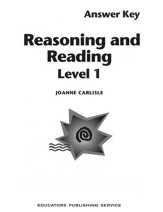 Reasoning and Reading 1 - Teacher's Guide  Grades 5-6