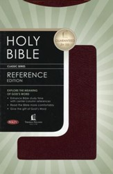 NKJV Reference Bible, bonded burgundy