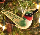 Felt Ornament Bird, Hummingbird, Fair Trade Product