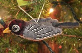 Felt Ornament Bird, Robin, Fair Trade Product