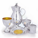 The Cup Silverplated Communion Chalice Set (Gold lined)