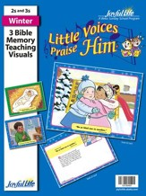 Little Voices Praise Him (ages 2 & 3) Bible Memory Verse Visuals