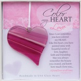 Love with Proverbs Glass Heart