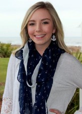 Scarf Navy & White Anchor