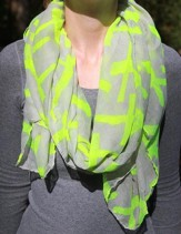 Scarf Neon Green Cross