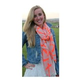 Scarf Neon Orange Cross