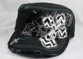 Designer Hat, Black Cross