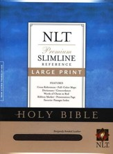 NLT Slimline Reference Bible - Large Print Bonded Burgundy - Slightly Imperfect