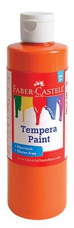 Tempera Paint, Orange