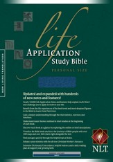 NLT Life Application Study Bible, Personal Size Bonded Navy