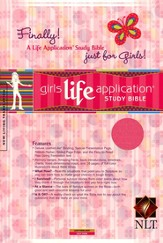 NLT Girls Life Application Study Bible Soft Leather-Look Hot Pink