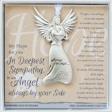 Sympathy, Always An Angel Ornament