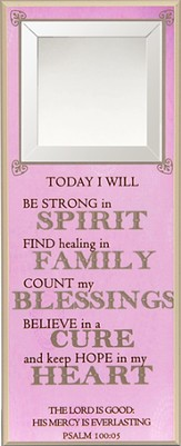 Today I Will Be Strong in Spirit Wall Plaque