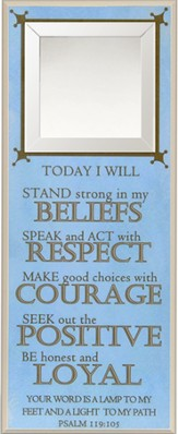 Today I Will Stand Strong In My Beliefs Wall Plaque
