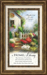 A Home Blessing Framed Art