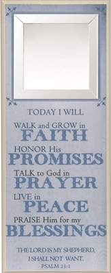Today I Will Walk and Grow in Faith Wall Plaque