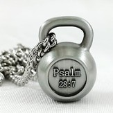 Men's Kettle Bell Antique Finish-Psalm 28:7