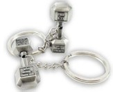 Dumbbell Keychain Antique Finish-Phil.4:13
