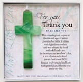 Thank You, Hanging Cross, Green