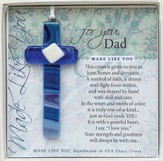 Dad, Hanging Cross, Blue