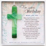 Birthday, Hanging Cross, Green