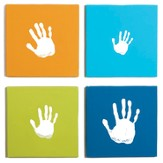 Handprint Wall Art, Set of 4