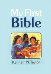 My First Bible in Pictures - Blue Hardcover