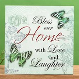 Bless Our Home with Love and Laughter Plaque