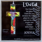 Loved, Mosaic Cross Ornament