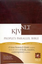 KJV/NLT People's Parallel Bible Burgundy Imitation Leather