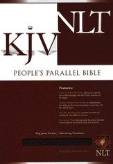 KJV/NLT People's Parallel Bible Burgundy Bonded Leather