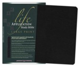 NLT Life Application Study Bible, Large Print, Black Bonded  Leather (Updated Edition)
